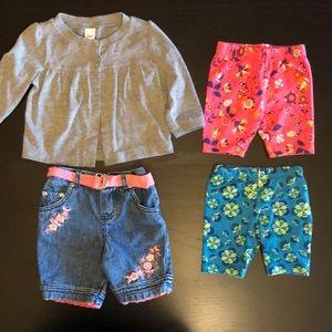 🎉 5/$15 Cardigan, jean shorts & 2 biker shorts